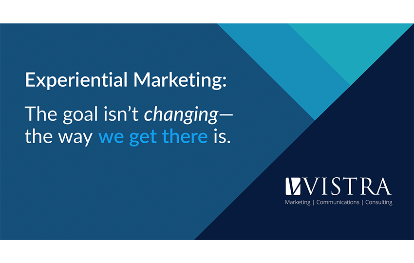 Experiential Marketing: The goal isn't changing - the way we get there is.