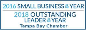 Tampa Bay Chamber named Vistra the 2016 Small Business of the Year and 2018 Small Business Leader of the Year