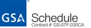 GSA Schedule Logo and Contract # GS-07F-030CA